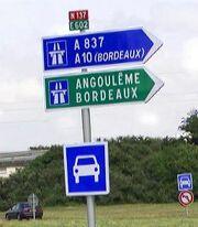 RN137 panneau