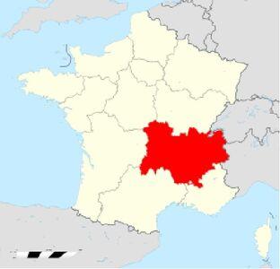 Localisation Région Auvergne Rhône-Alpes