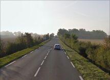 La RN147 entre Lussac-les-Châteaux et la Porcelaine