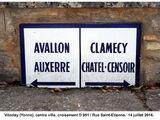 Carte de localisation des Panneaux Michelin de l'Yonne (89)