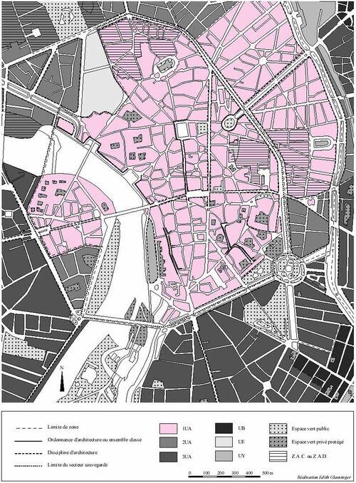 Toulouse - Plan d'Occupation des Sols (Centre)