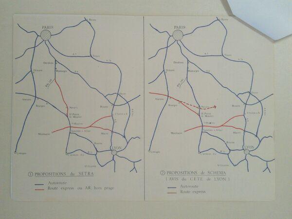 Carte A77 proposition 1975