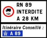 RN89 interdite