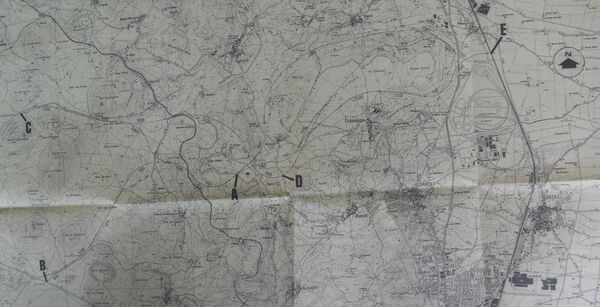 A89 (A73) Clermont variantes entre Argnat et La Chaines des Puys (1988)