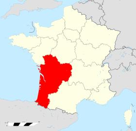 Localisation Région Nouvelle Aquitaine