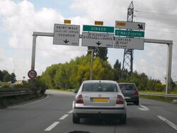 Fin de la voie express au sud de Saint-Malo