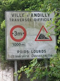 Restrictions D124e 95 Andilly