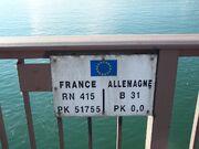 RN415 - Fontière franco-allemande