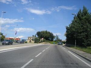 Rocade Alès - Giratoire Pont-du-Gard