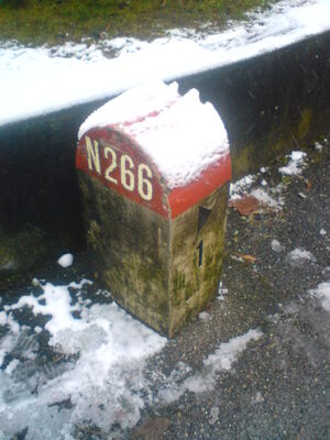 Borne N266 neige