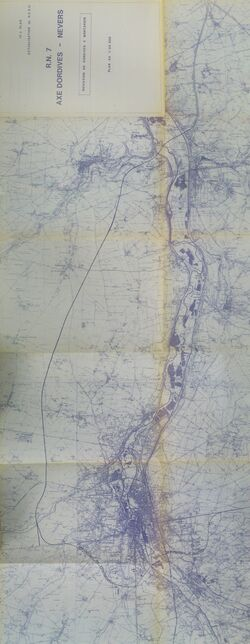 Déviation de Dordives à Montargis RN7 1983