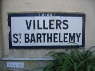 Plaque Michelin 60D002 - Entrée Villers-St-Barthélémy