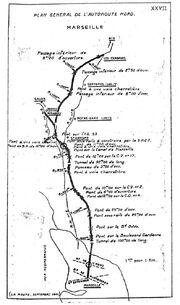 Plan Autoroute Nord Marseille