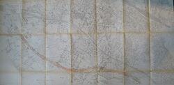 Voie liaison RN34 1957 - Tracé