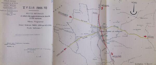 Déviation de Saint Pierre le Moûtier RN7 1965