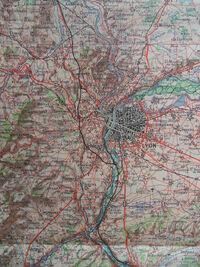 A6 1957 Projet de tracé à Lyon