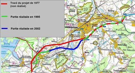 Déviation de Bébing (57 Moselle) modif