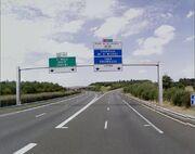 Début de l'A84 à Rennes