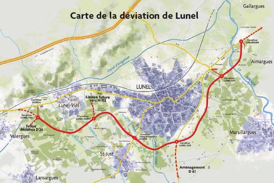 RN113 - Déviation de Lunel - Fuseau retenu