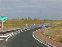 Début de la voie express au niveau de l'A87