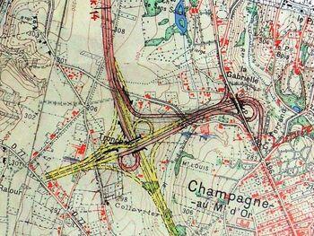 A44 1958 Echangeur A6xA44xRN6