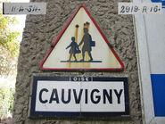 Plaque Michelin 60D044 - Entrée Cauvigny