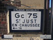 Plaque Michelin 60D075 - Bailleul-le-Soc
