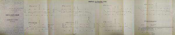 Déviation de Dordives à Montargis profils en travers RN7 1967