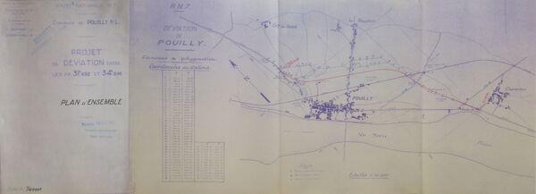 Déviation de Pouilly sur Loire RN7 1952 - 1