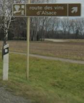 Signalétique Route des Vins d'Alsace