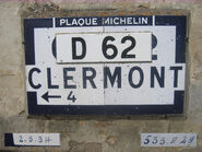 Plaque Michelin 60D062 - Breuil-le-Sec
