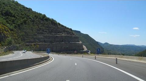 France A75 Millau - Montpellier (Pas de l'Escalette)
