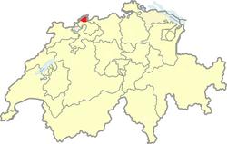 Situation Canton Bâle-Ville