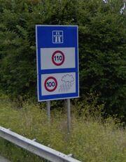 Limitation de vitesse de l'A20 à Limoges