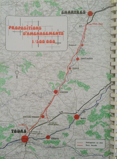 A110 Tracé 1974 1-500000