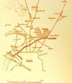 Autoroute du Nord 1934 - Schema