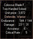 Colossus Blade F3