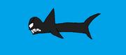 The Shark looks at Bodi and Darma