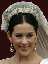 CrownPrincessMaryWeddingDressTiaraEarrings