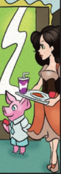 Rose and pig