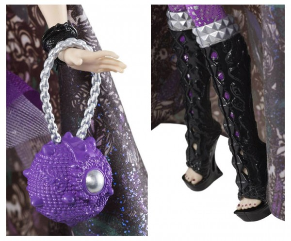 Ever After High Doll~Raven Queen~Legacy Day~Purple Shinny Pants Leggings