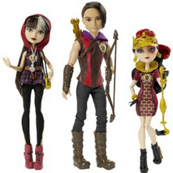 Cerise Hood, Hunter Huntsman and Lizzie Hearts Tri-castle-on Doll 3 Pack