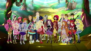 Year Three Students and the Headmatsers of Ever After High
