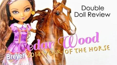 Double Doll Review EAH Cedar Wood plus Breyer Year of the Horse