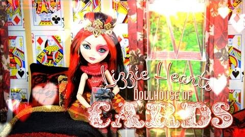 How to Make a Dollhouse of Cards plus Lizzie Hearts - Doll Crafts