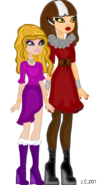 Cerise Hood adult and her daughter