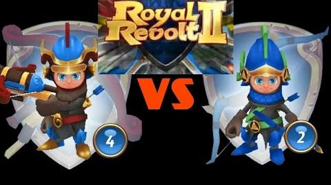 ROYAL REVOLT 2 - ARBLASTER vs ARCHER (test)