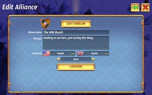 Edit alliance
