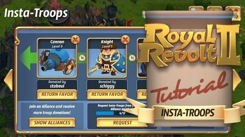 Royal Revolt 2 - Using Insta Troops!