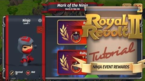 Royal Revolt 2 - Getting the best rewards in Ninja events